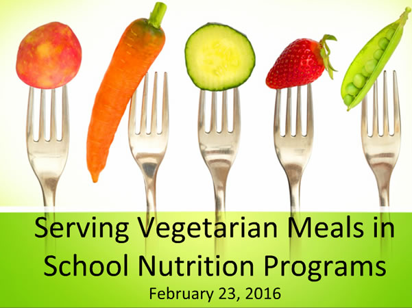 Serving vegetables in school program.